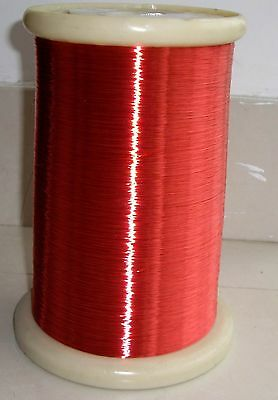 polyurethane Enameled Copper Wire Magnet Wire 35 AWG Red 2UEW/155 0.14mm A36I LW
