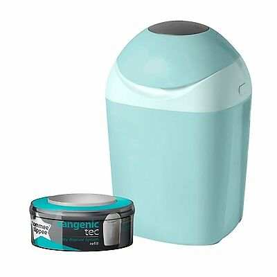 Tommee Tippee Sangenic Baby Nappy Disposal Tub Bin System Blue +Cassette