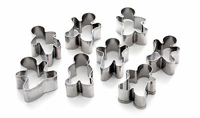 Dexam 8 Piece Mini Gingerbread Men Cookie Cutter Set Stainless Biscuit Pastry