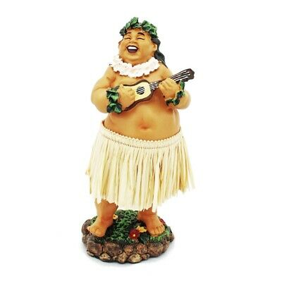 Hawaii miniature Dashboard Hula Doll - Bradda Ed mit Ukulele groß