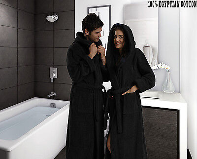 Men's Women's 100% Pure Cotton Soft Terry Toweling Bathrobe Dressing Gown