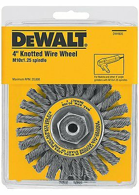 "DeWalt DW4935 4"" by M10 x 1.25 Twisted Wire Wheel Carbon Steel .020"""