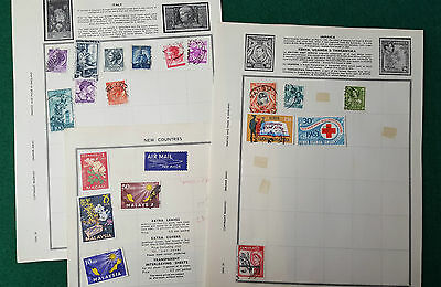 Job Lot Of Stamps On Paper - Italy / Jamaica & More - Used Stamp Postal History