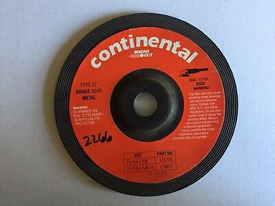 9 Inch Without Hub 10-Pack Continental Metal Grinding Wheels