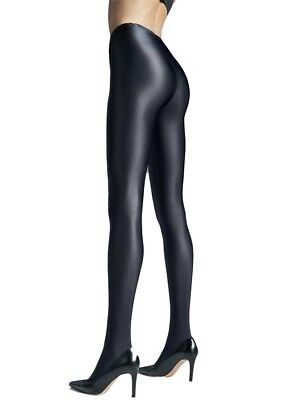 Womens 120 Denier Satin Gloss Opaque Tights, Sexy Shiny Black Pantyhose, Gatta B