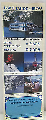 Vintage Lake Tahoe Reno Brochure Dining Attractions Shopping Maps Guides Nevada