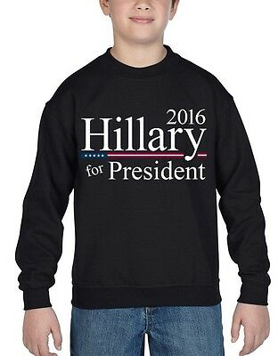 Hillary For President 2016 Youth Crewneck Democratic Political Election Sweater