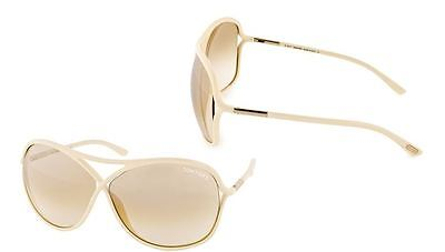 Brand New Tom Ford TF 184 Ivory25G Vicky Butterfly Aviator Designer Sunglasses