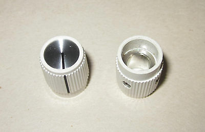 "NOS Raytheon/EHC Regent Skirted Round Knob, Gloss White w/ Line Inlay 1/4"" Shaft"