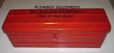 New RED STEEL METAL TOOL BOX~5A3R~TBRED for FARMALL TRACTOR
