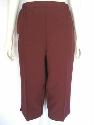 New! Domino Ladies Maroon Pedal Pushers. Only $57 with Free Postage!