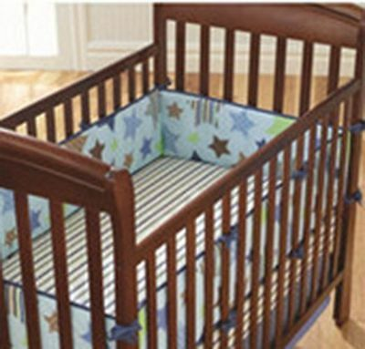 4pc Baby Cot Bumpers Set - Stars