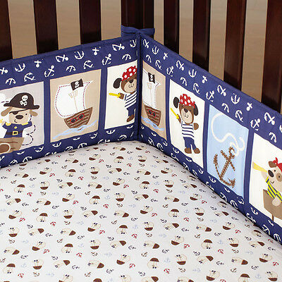4pc Baby Cot Bumpers Set - Pirate