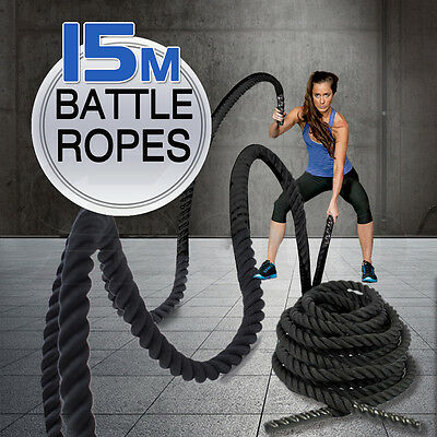 Heavy Home Gym Battle Rope Battling Strength Training Exercise Fitness 15M