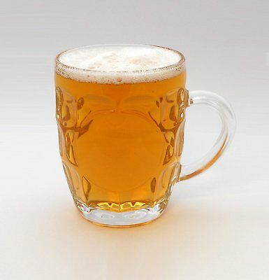 Dimpled Beer Tankard Britannia Half Pint Glass set of 4 - home or for pub