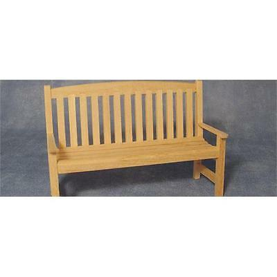 12th Scale Barewood Garden Bench For Dolls Houses Etc. BEF144