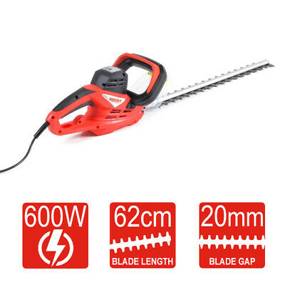 Electric Hedge Trimmer - 600w 62cm length with 20mm blade gap