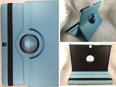 "Funda Carcasa Tablet Bq Aquaris M10 10"" Giratoria 360º Color Celeste"