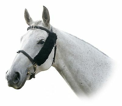LeMieux Lambswool NOSEBAND COVER / FRENCH BLINKERS Natural/Brown/Black/Taupe