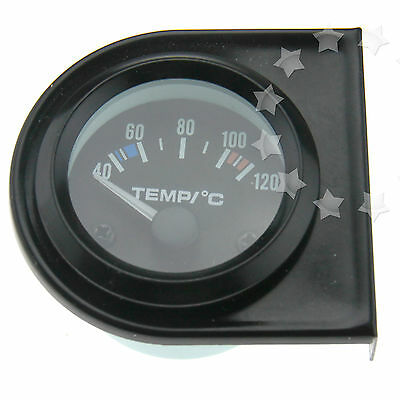 "New 2"" 52mm White LED Car Water Temperature Gauge Meter Dials 40-120℃"