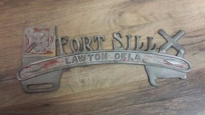 Vintage Fort Sill OKLAHOMA License Plate Topper
