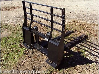 New Dirt Dog Mfg. Pallet Forks for Skid Steer Quick Attach.. Can ship cheap!