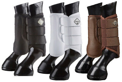 LeMieux ProSport MESH BRUSHING BOOTS Lightweight Schooling Black/White/Brown