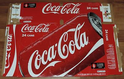 """2009 USA COCA-COLA  (1st Issue w/o """"CLASSIC"""") 24-PACK EMPTY CAN CARTON/CASE"""