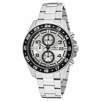 Invicta Men's 13866 Specialty Chronograph Silver Dial Stainless Steel Watch