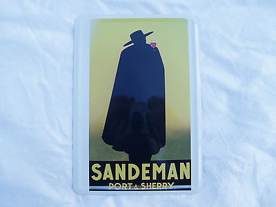 Sandeman Port & Sherry Metal Advertising  Card Or Small Sign