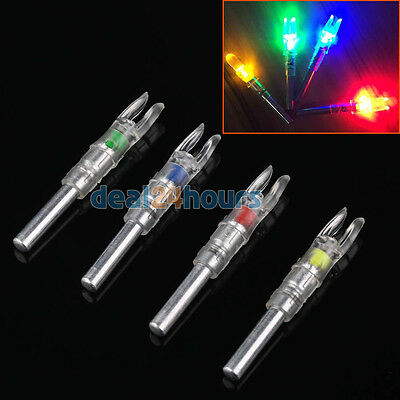 3PK automatical 6.2 lighted arrow nock for ID 6.2mm hunting arrows random color