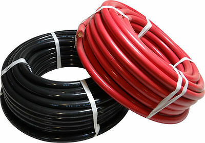 LOT DE 2 CABLE DE BATTERIE SOUPLE NOIR ET ROUGE Ø 16 mm2 95A