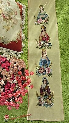 "Preworked Needlepoint Canvas Petit Point Tapestry~Royal Ladies~14""*40""~Gorgeous~"