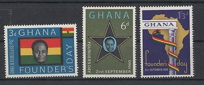 GHANA 1960 founder's day 79-81 MNH
