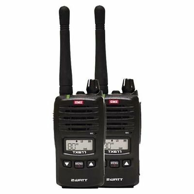 Gme Tx675 2 Watt Twin Pack Uhf Cb Handheld Radio 80 Channel Complete Package