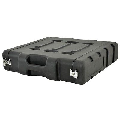 "Citronic 19"" 2U LLDPE Protective Carry Transport Rack Case Black"