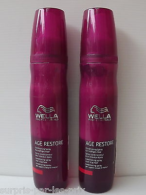 WELLA AGE RESTORE Spray Conditionneur pour Cheveux Epais LOT 2 x 150ml NEUF