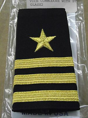 Vice Commodore  3 Gold Stripes W/star  Yacht Club