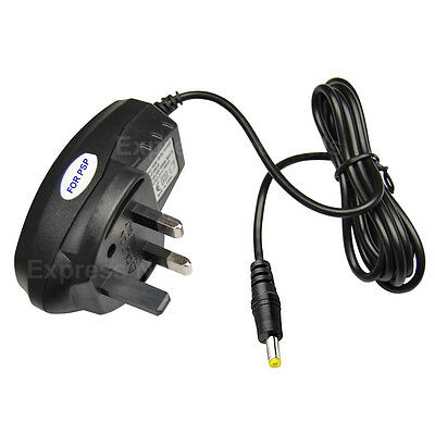UK Plug Home Wall Charger Power Supply AC Adapter fits Sony PSP 1000 2000 3000