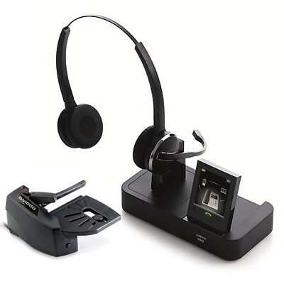 Jabra PRO 9465 Duo DECT 6.0 Stereo 1.9GHz Wireless Headset with Lifter New