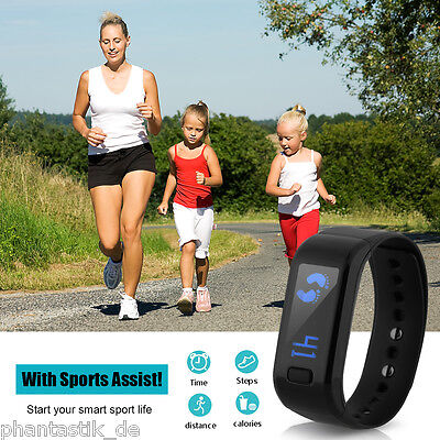 Smart Bluetooth Bracelet Watch Activity Fitness Tracker Pedometer iOS Android
