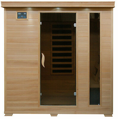 MONTICELLO - 4 Person FAR Infrared Sauna with Carbon Heaters