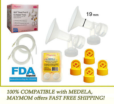 Pump Accessories Kit for MEDELA 19 mm Breast Shield , Tubing , Membranes & Valve