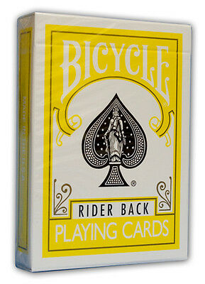 Bicycle Rider Back Yellow Playing Cards Deck Brand New Sealed