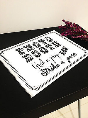 Photo Booth Sign for Photobooth Props Wedding Party Decoration Accessories