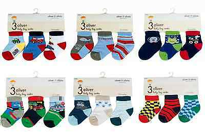 Baby Boy Cute Design Socks Newborn Soft Touch Blue Prince Cotton Rich Unisex 0-6