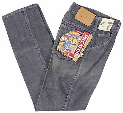 "NEW VTG 90s DICKIES Branders JEANS Boys 12 Regular Fit Gray 24"" Waist Deadstock"