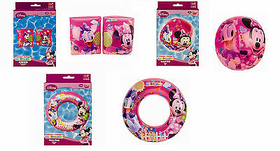 Minnie Mouse Clubhouse Inflatable Swim Ring Armbands Beach Ball Pool Daisy PINK
