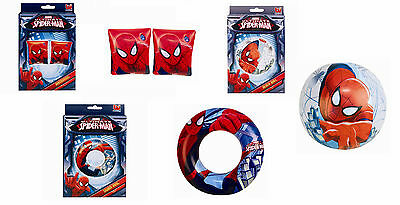Spiderman Marvel Inflatable Swim Ring Armbands Beach Ball Super Hero Pool Holida