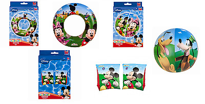 Mickey Mouse Clubhouse Inflatable Swim Ring Armbands Beach Ball Pool Holiday Toy